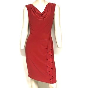 Saffron color Evan Picone sheath dress